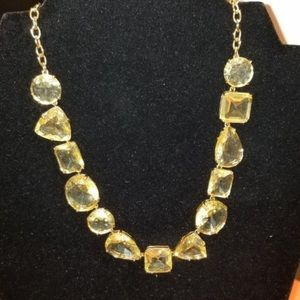 Kate spade gold canary statement necklace